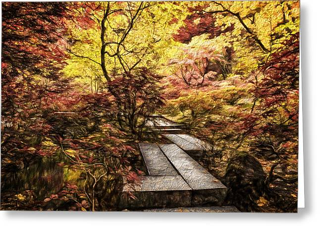 Fall Walkway Greeting Card