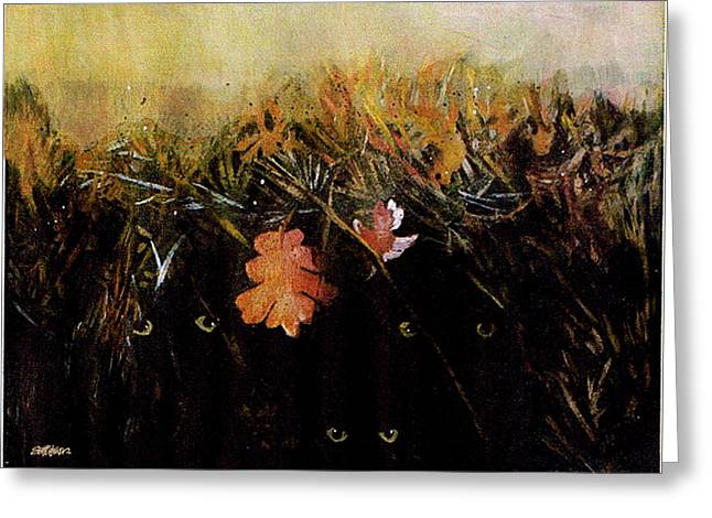 Fall Wind Across The Meadow Greeting Card by Seth Weaver