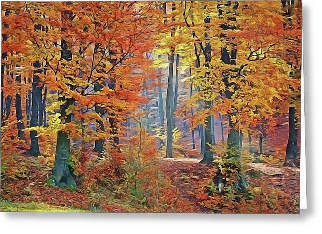 Fall Woods Greeting Card