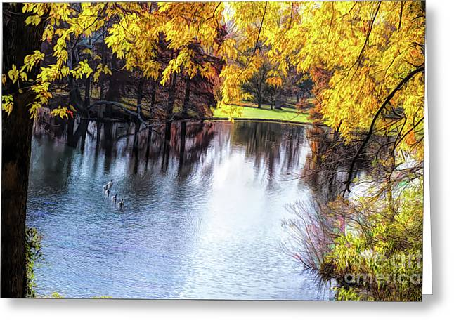 Fall Yellow Boarder Greeting Card