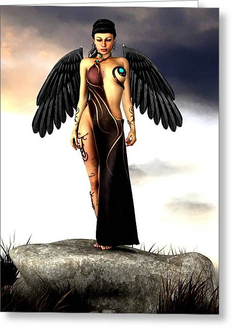 Fallen Angel Greeting Card by Alexander Butler