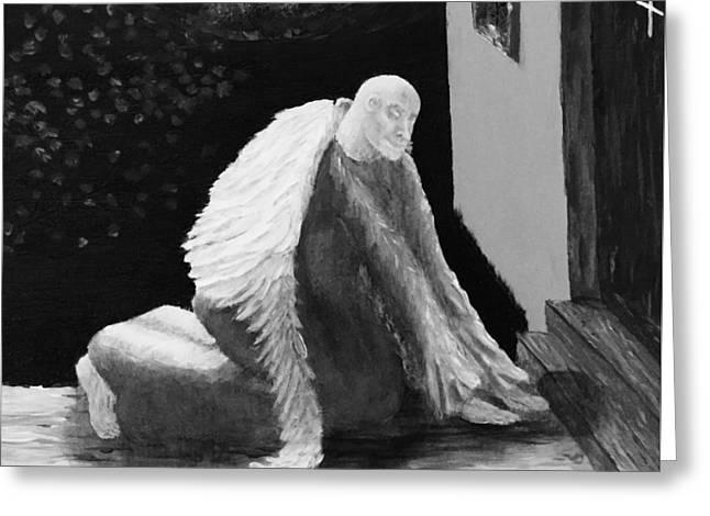 Fallen Angel Noir  Greeting Card