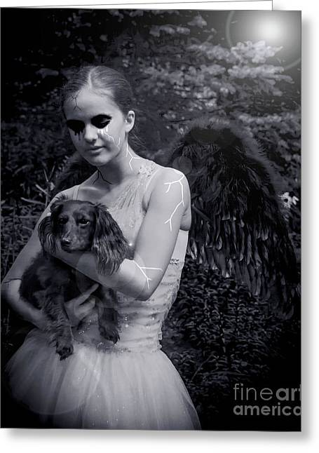 Greeting Card featuring the photograph Fallen Angel by Rebecca Margraf