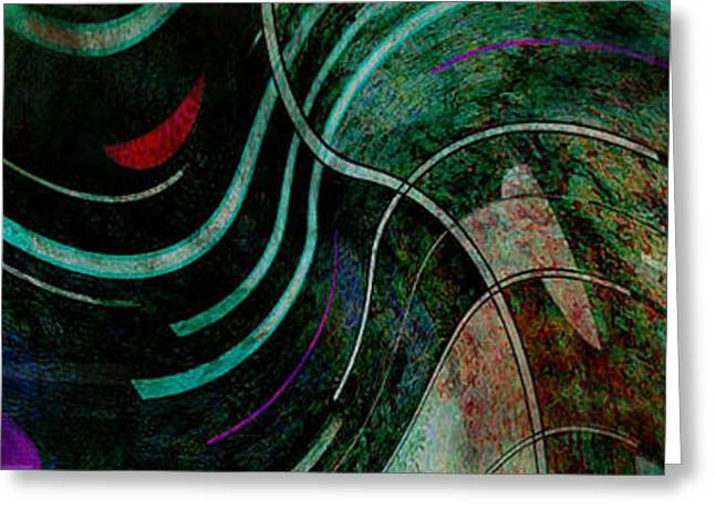 Greeting Card featuring the digital art Fallen Angle by Sheila Mcdonald