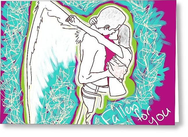 Fallen For You Greeting Card by M Blaze Wolenski