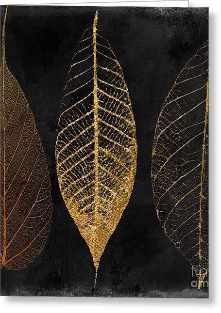 Fallen Gold II Autumn Leaves Greeting Card