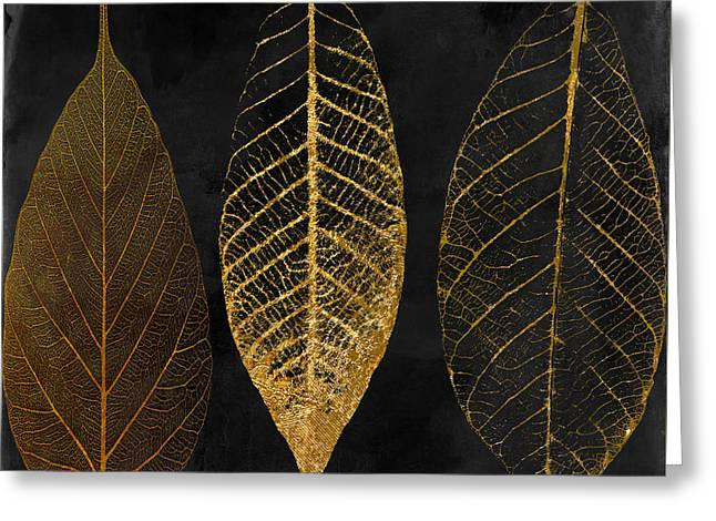 Fallen Gold II Autumn Leaves Greeting Card by Mindy Sommers