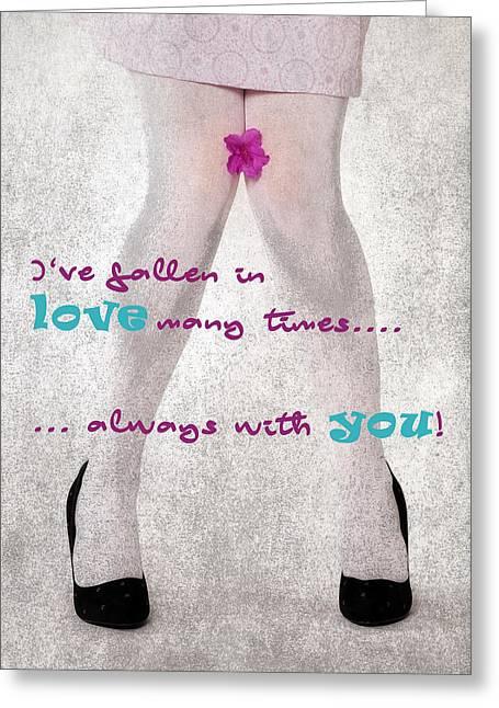 Fallen In Love Greeting Card by Joana Kruse
