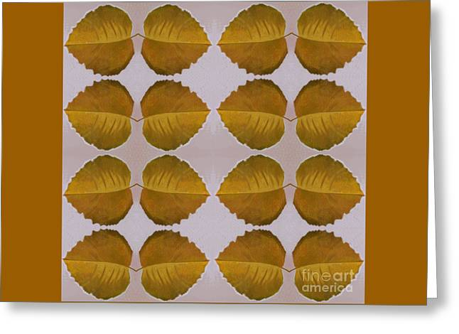 Fallen Leaves Arrangement In Yellow Greeting Card by Helena Tiainen