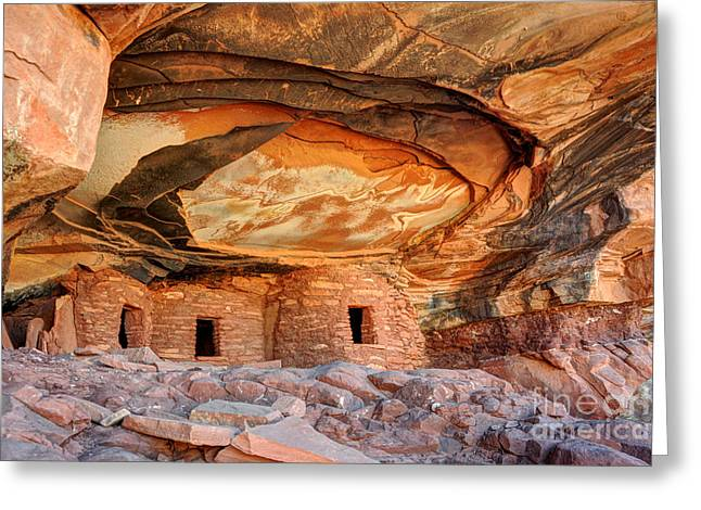 Fallen Roof Anasazi Ruins 2 - Cedar Mesa - Utah Greeting Card by Gary Whitton