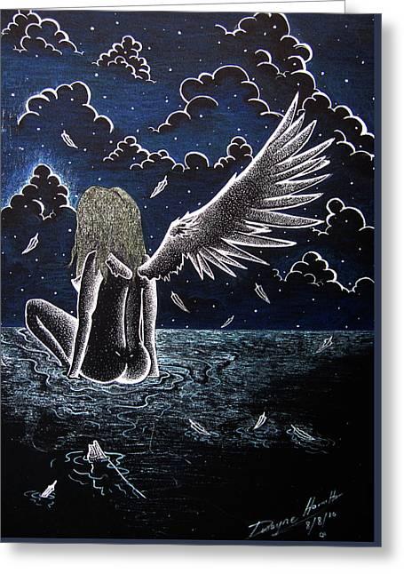 Falling Angel Greeting Card