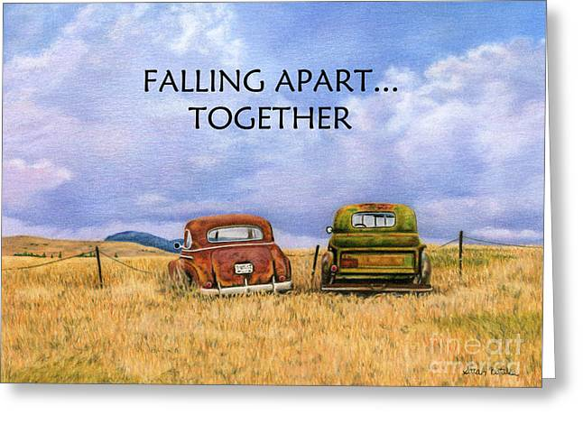 Falling Apart Together Greeting Card by Sarah Batalka