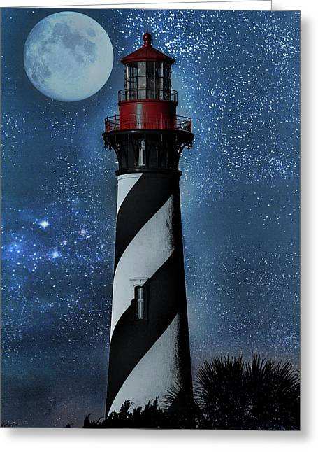 Falling For You St Augustine Lighthouse Greeting Card by Betsy Knapp