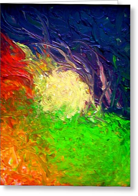 Greeting Card featuring the painting Falling In by Laura  Grisham