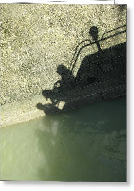 Falling Into The Water Greeting Card