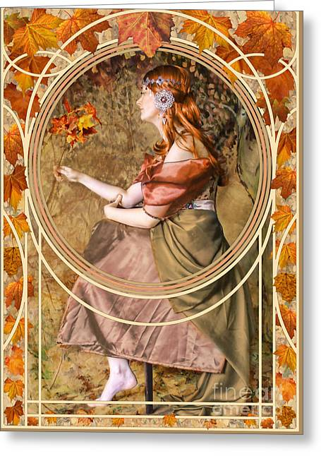 Falling Leaves Greeting Card