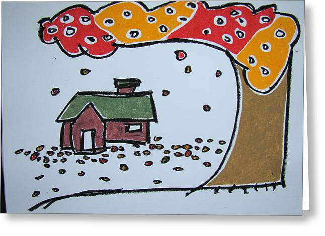 Falling Leaves Greeting Card by Pat  Lackenbauer