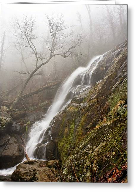 Greeting Card featuring the photograph Falling Mist by Alan Raasch