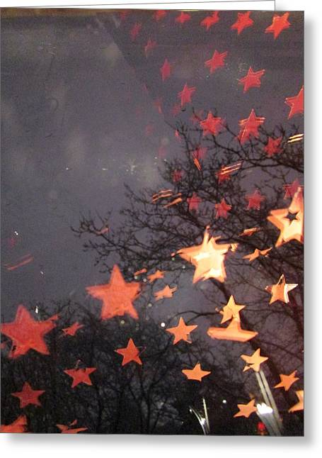 Falling Stars And I Wish.... Greeting Card