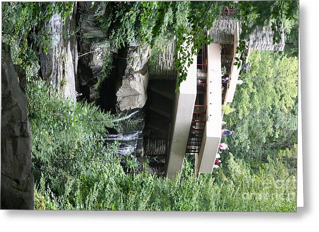 Falling Water Exterior Vi Greeting Card by Chuck Kuhn