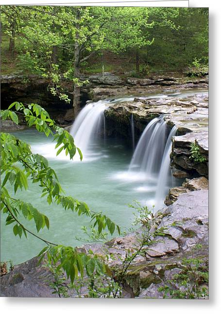 Falling Water Falls 4 Greeting Card by Marty Koch