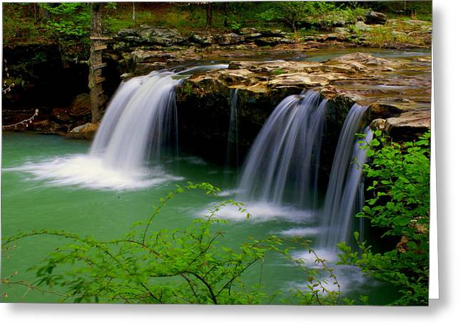Falling Water Falls Greeting Card by Marty Koch