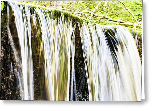 Falling Water Mirror Greeting Card
