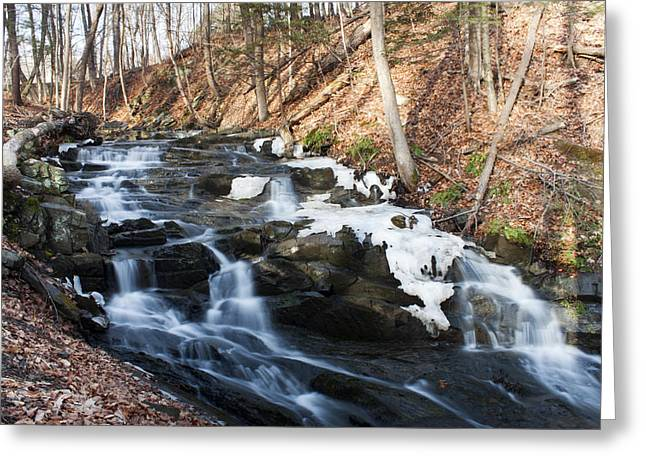 Falling Waters In February #1 Greeting Card by Jeff Severson
