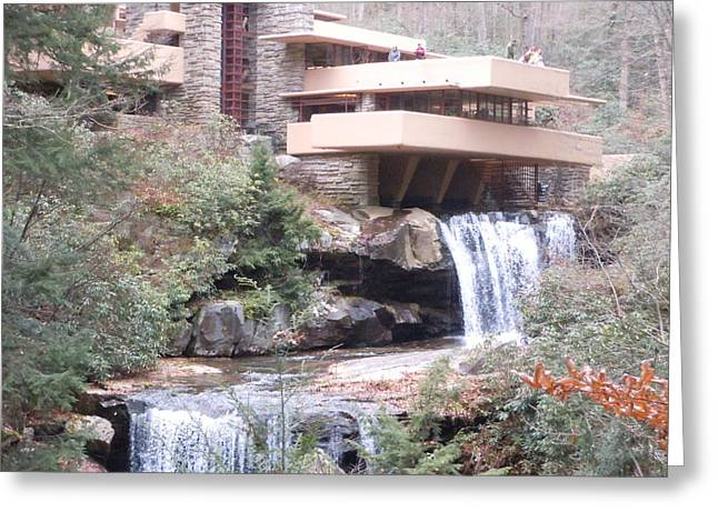 Falling Waters In November Greeting Card