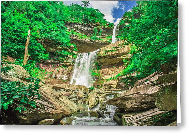 Greeting Card featuring the photograph Falling Waters by Paula Porterfield-Izzo