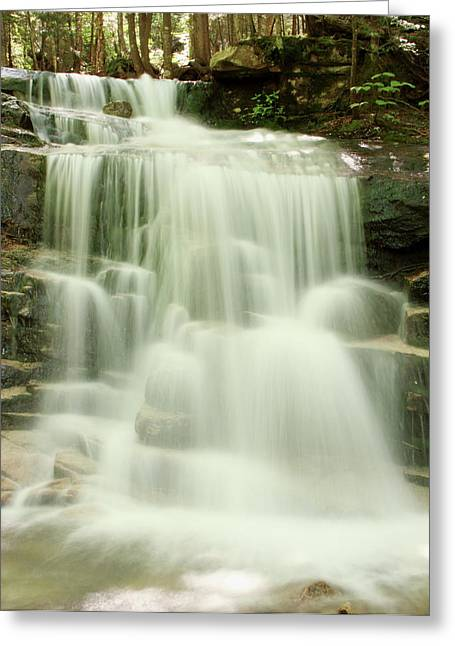 Falling Waters Greeting Card by Roupen  Baker
