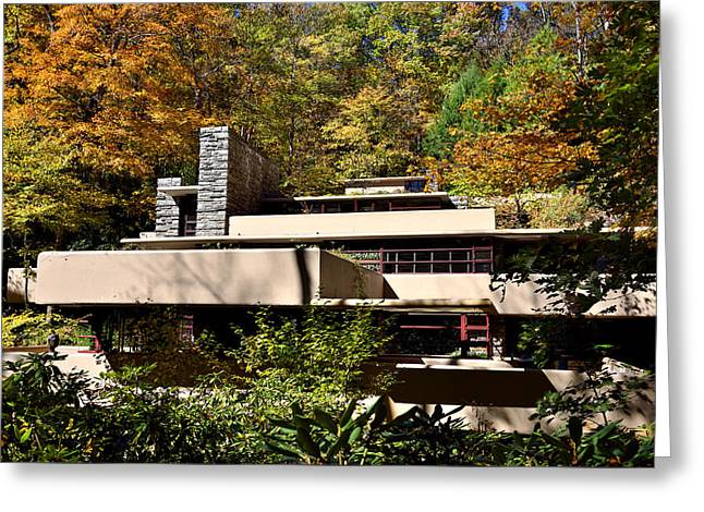 Fallingwater During Autumn Greeting Card by Brendan Reals