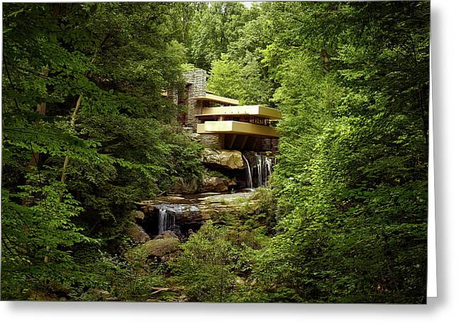 Fallingwater  Greeting Card by Mountain Dreams