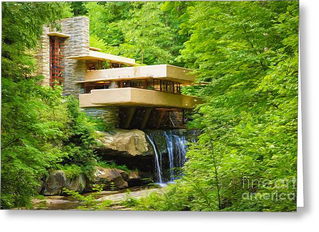 Fallingwater Painterly L Greeting Card