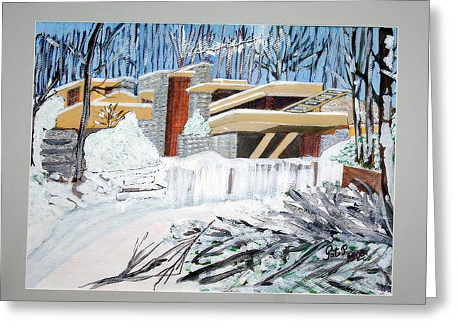Fallingwater Greeting Card by Patricia Fragola