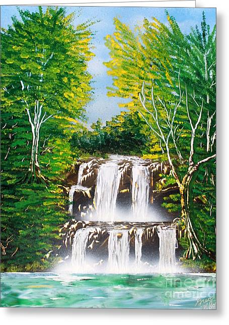 Falls 01 Greeting Card by Greg Moores