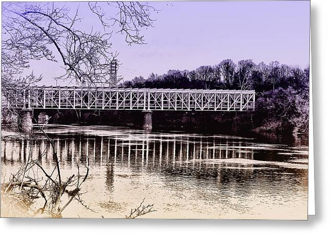 Falls Bridge Greeting Card by Bill Cannon