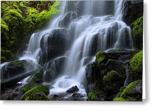 Falls Greeting Card by Chad Dutson