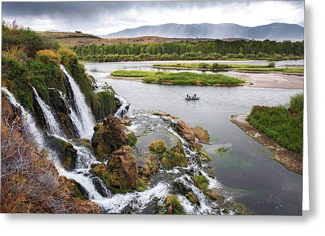 Falls Creak Falls And Snake River Greeting Card