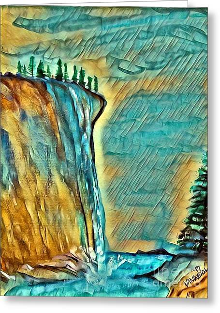 Falls From Clouds Falls - Sunset Glow Greeting Card