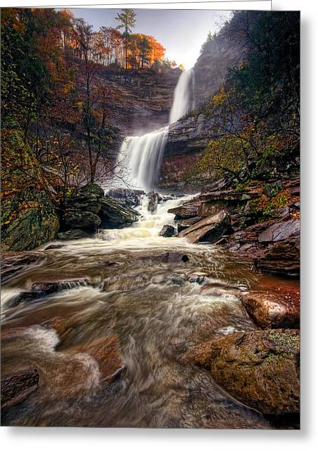 Falls Fury Greeting Card