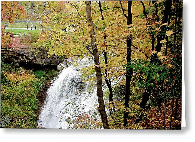 Falls In Autumn Greeting Card