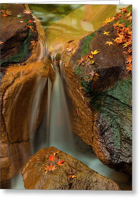 Falls In Motion Greeting Card