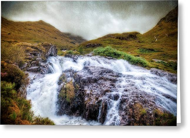 Falls Of Glencoe Greeting Card by Ray Devlin