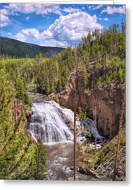 Greeting Card featuring the photograph Falls Of The Gibbon by John M Bailey