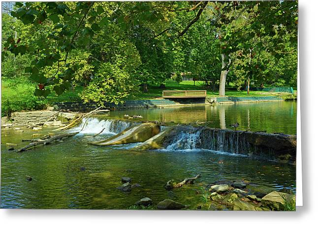 Falls Park Greeting Card by Mountain Dreams
