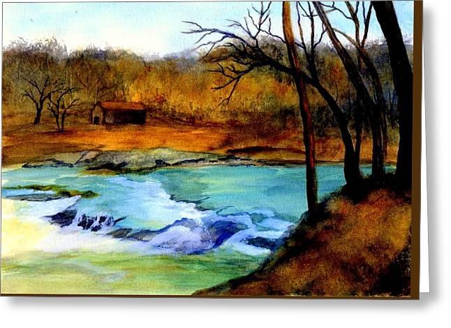 Fallsburg Ky Falls Greeting Card by Gail Kirtz