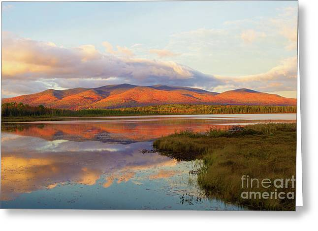 Fallsets On Cherry Pond Greeting Card by Lloyd Alexander