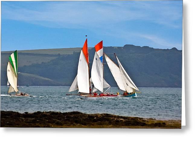 Falmouth Reggatta  Greeting Card by Brian Roscorla