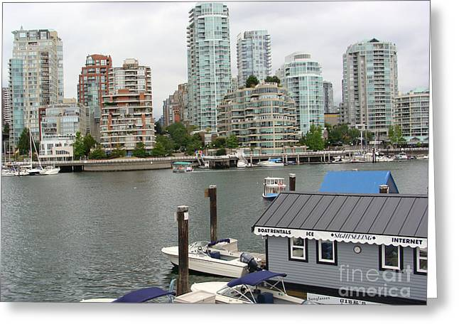 False Creek Vancouver Greeting Card by Rod Jellison